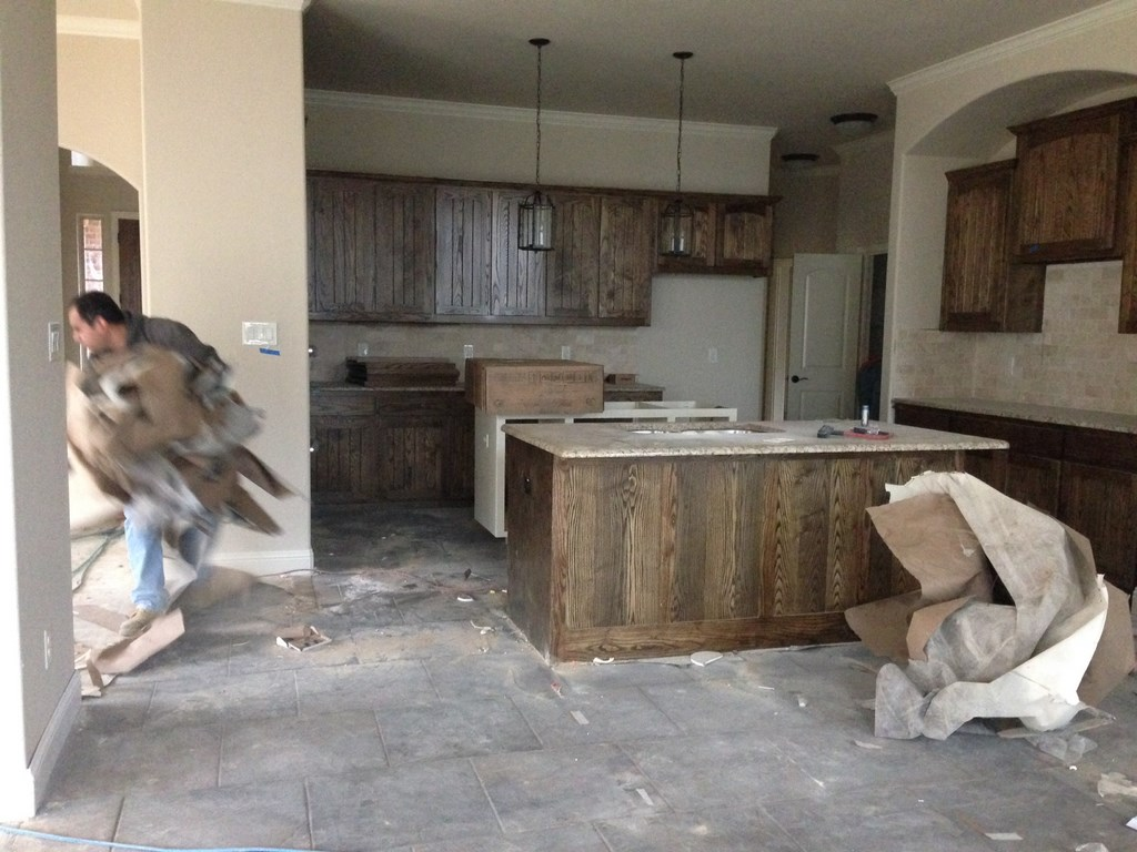 Construction Clean Up Services : A new home rough post construction cleaning in corinth tx