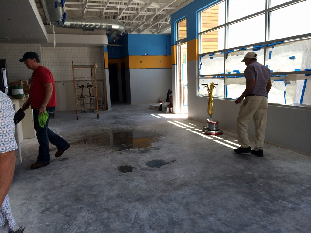 Construction Clean Up Services : Rusty tacos restaurant stripping and sealing floors post