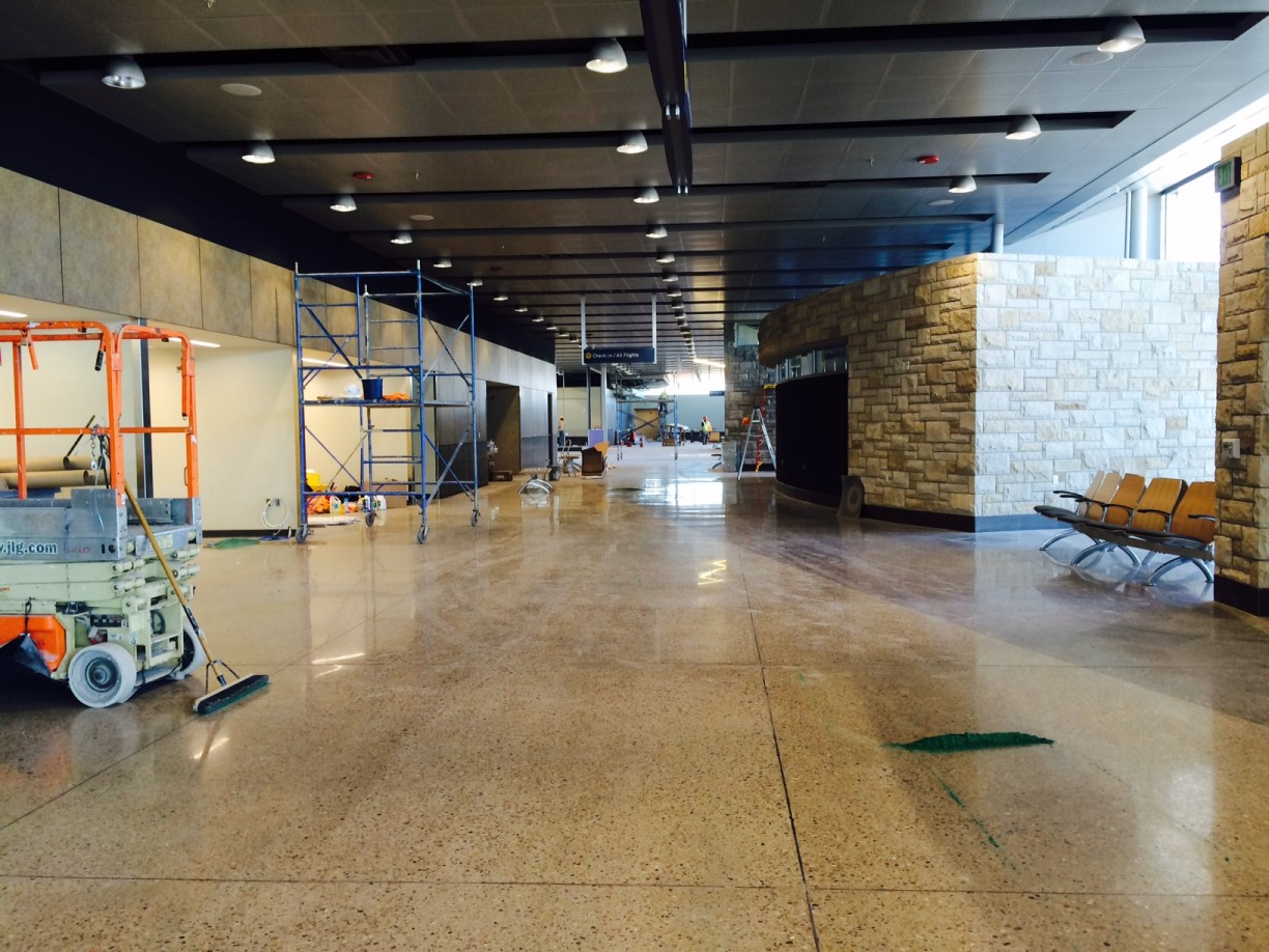 Construction Clean Up Services : Wichita fall municipal airport post construction clean up