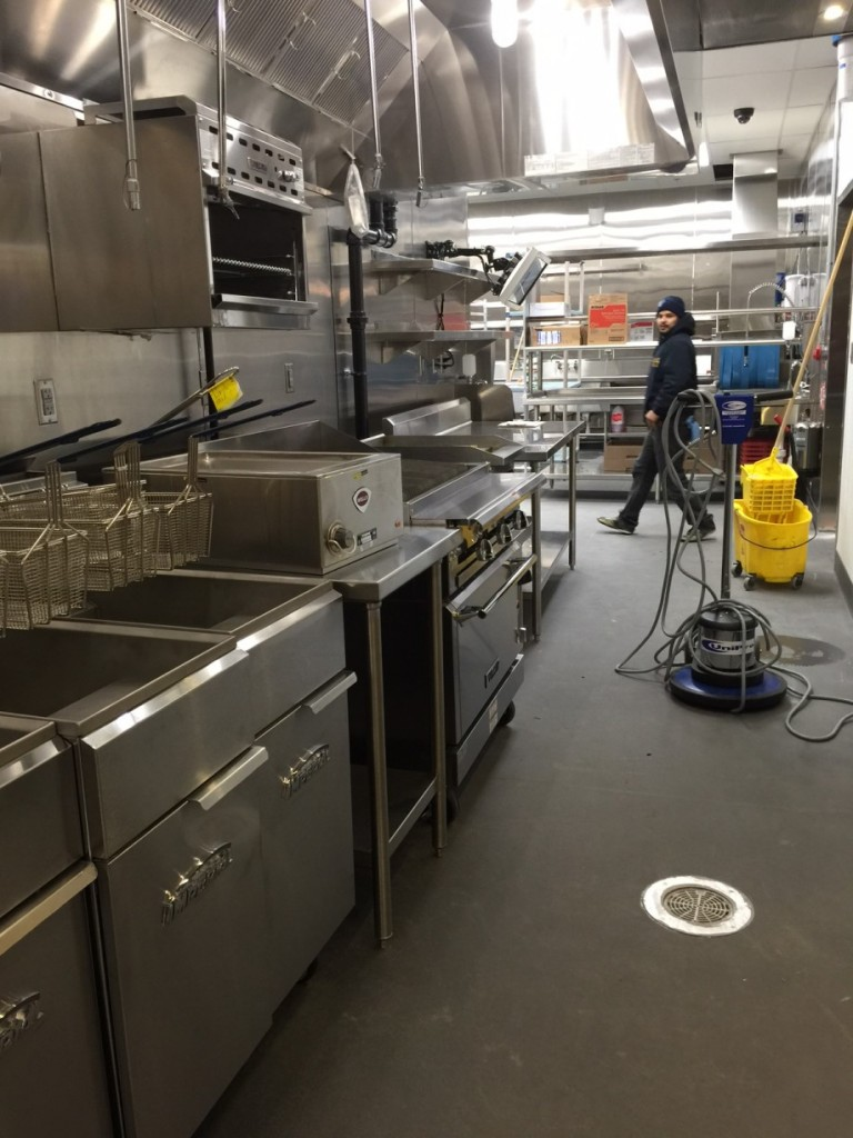 Construction Clean Room Floor : Public school restaurant floors construction clean up