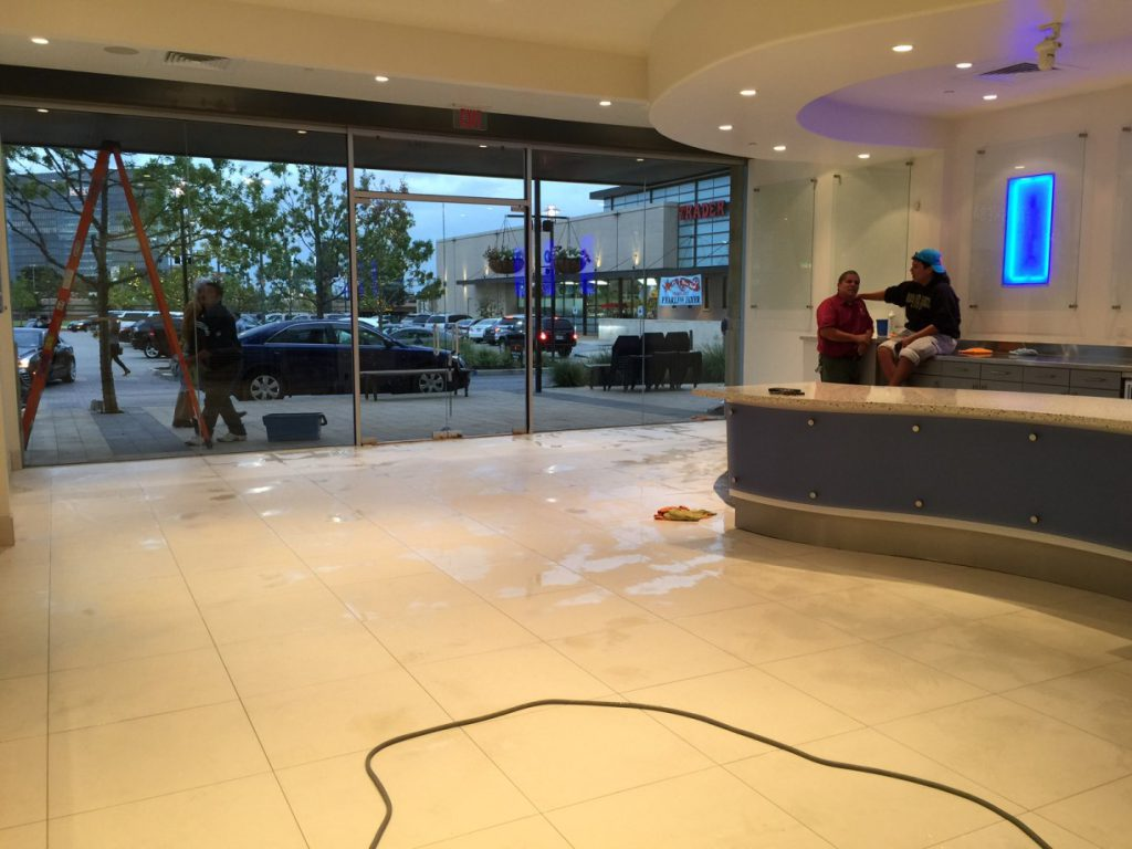 Bar Cleaning Service : Ice cream store final post construction cleaning service