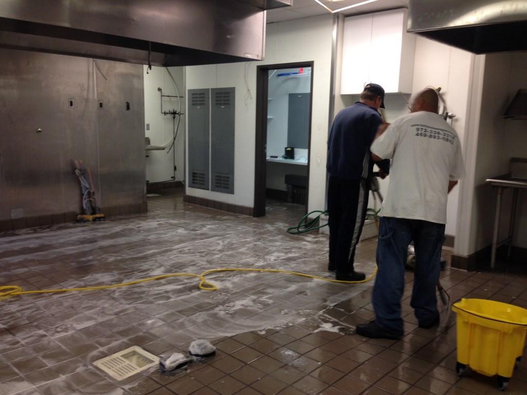 Restaurant Floor Sealing, Waxing and Deep Cleaning Walls, Bathrooms, Cold Room in Frisco, Texas