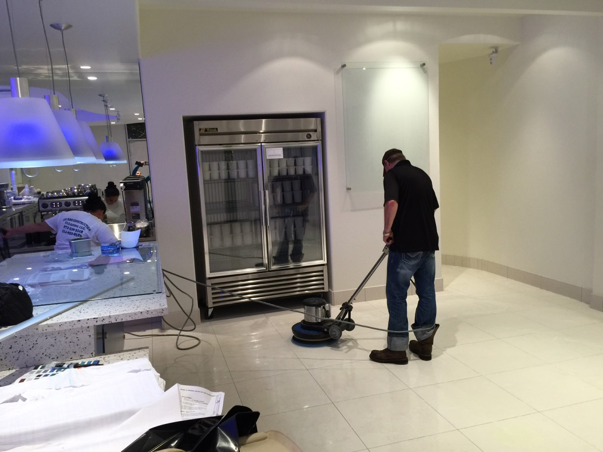 Ice Cream Store Strip And Seal Floors In Dallas Tx